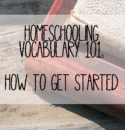 homeschooling vocabulary 101 square