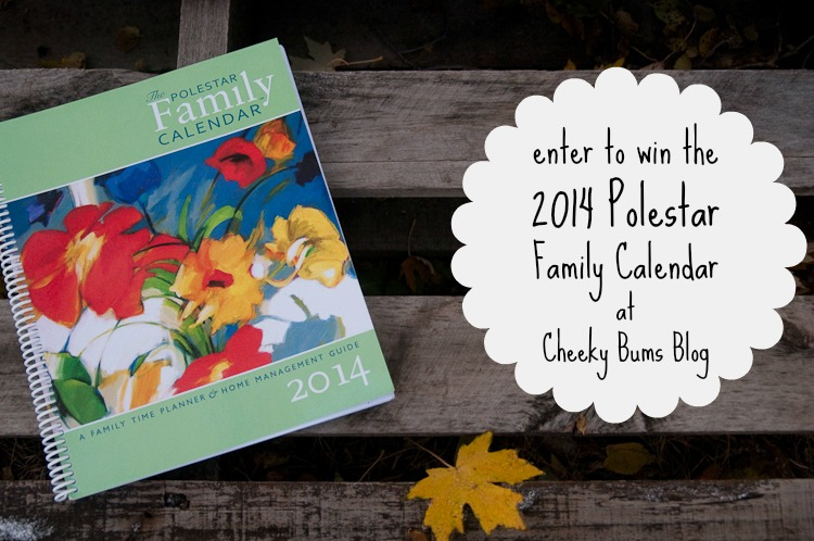 2014 Polestar Family Calendar Giveaway :: Cheeky Bums Blog